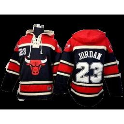 Chicago Bulls #23 Michael Jerseys Jordan Black Sawyer Hooded Sweatshirt Hoodie