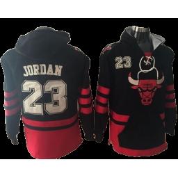 Chicago Bulls #23 Michael Jordan Black Basketball Pullover Hoodie