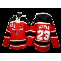 Chicago Bulls #23 Michael Jordan Red Pullover Hoodie
