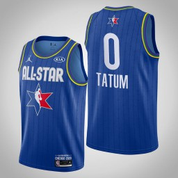 Boston Celtics Jayson Tatum #0 Game Reserves Blue 2020 All-Star Jersey
