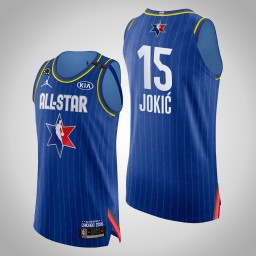 Nuggets Nikola Jokic #15 Game Authentic Blue 2020 All-Star Jersey