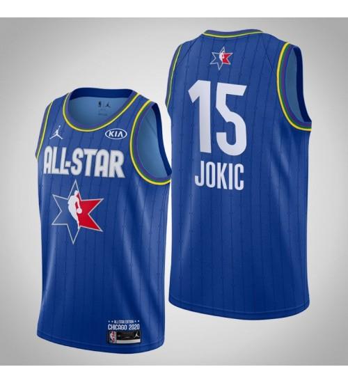Denver Nuggets Nikola Jokic #15 Game Reserves Blue 2020 All-Star Jersey