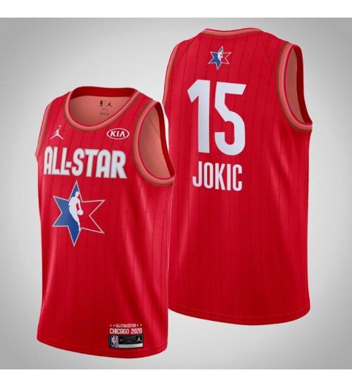 Denver Nuggets Nikola Jokic #15 Game Reserves Red 2020 All-Star Jersey