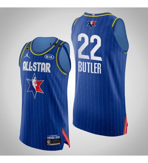 Heat Jimmy Butler #22 Game Authentic Blue 2020 All-Star Jersey