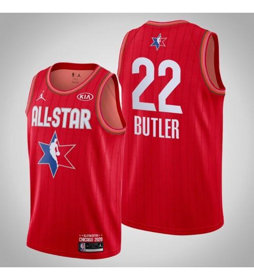 Milwaukee Bucks Khris Middleton #22 Game Reserves Red 2020 All-Star Jersey