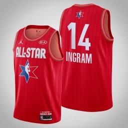 New Orleans Pelicans Brandon Ingram #14 Game Reserves Red 2020 All-Star Jersey