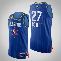 Jazz Rudy Gobert #27 Game Authentic Blue 2020 All-Star Jersey