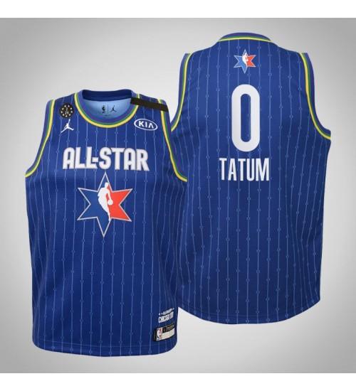 Kids Boston Celtics Jayson Tatum #0 Blue Game 2020 NBA All-Star Jersey