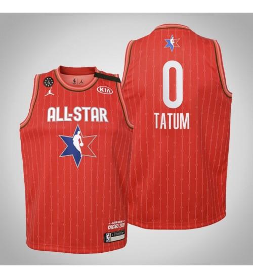 Youth Boston Celtics Jayson Tatum #0 Red Game 2020 All-Star Jersey