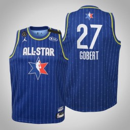Youth Utah Jazz Rudy Gobert #27 Blue Game 2020 All-Star Jersey