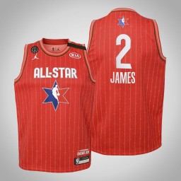 Youth Los Angeles Lakers LeBron James #2 Red Game 2020 All-Star Jersey