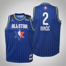 Youth Team LeBron Luka Doncic #2 Mavericks Blue Game 2020 All-Star Jersey