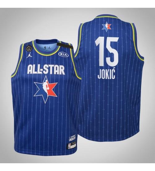 Youth Denver Nuggets Nikola Jokic #15 Blue Game 2020 All-Star Jersey