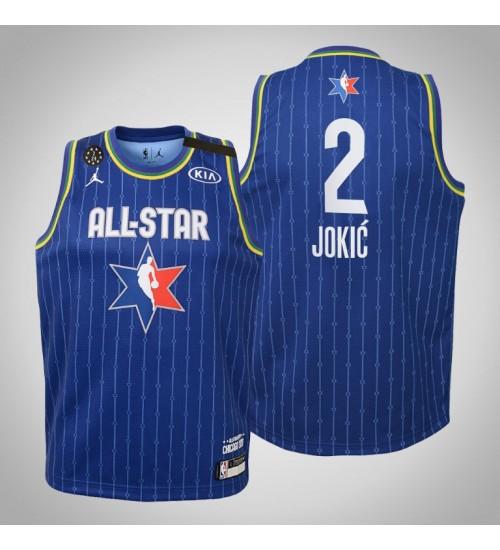Youth Team LeBron Nikola Jokic #2 Nuggets Blue Game 2020 All-Star Jersey