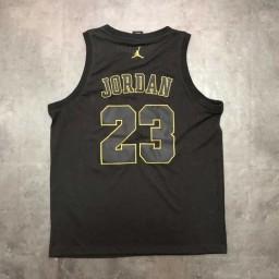 Air Jordan #23 Stitched Black Gold Jersey