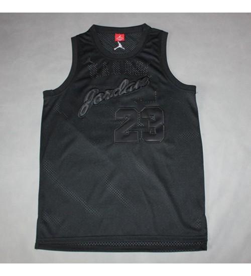 Michael Jordan #23 Stitched All Black Jersey - Commemorative Edition