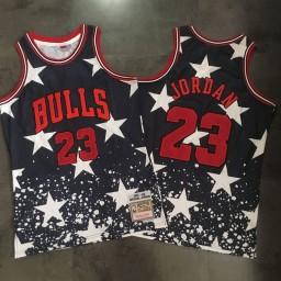 Michael Jordan #23 Chicago Bulls Mitchell & Ness 1997-98 Hardwood Classics Black Jersey - Independence Day