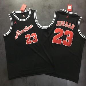 Michael Jordan #23 Stitched Black Jersey - Commemorative Edition