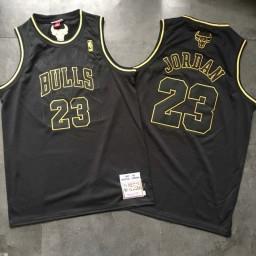Michael Jordan #23 Stitched Chicago Bulls 1997-98 Hardwood Classics Mitchell & Ness Jersey Black Gold