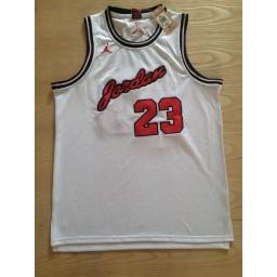 Michael Jordan #23 Stitched White Jersey - Commemorative Edition