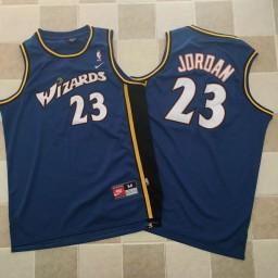 Michael Jordan Stitched #23 Washington Wizards Jersey Blue