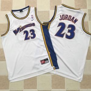 Michael Jordan Stitched #23 Washington Wizards Jersey White