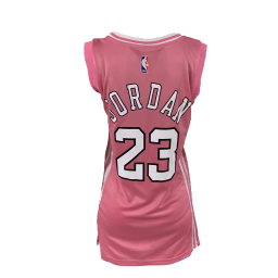 Women's Michael Jordan Bulls #23 Pink One-piece Dress