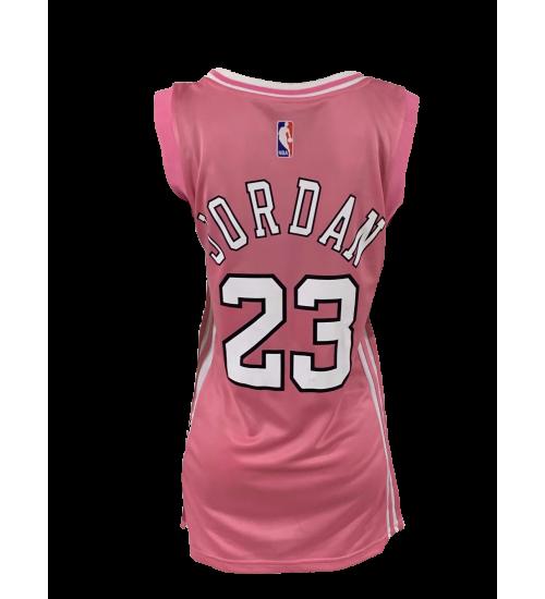 Women's Michael Jordan Bulls #23 Pink One-piece Dress