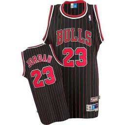 Youth Michael Jordan Authentic Throwback Chicago Bulls Jersey #23 Black Red