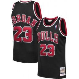 Youth Michael Jordan Authentic #23 Chicago Bulls Jersey Black