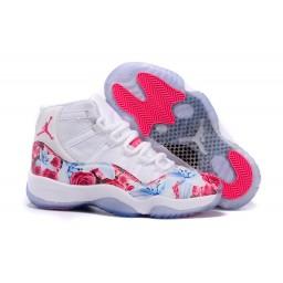 "2015 Air Jordan 11 GS ""Floral"" Custom White Pink With Flower Print"
