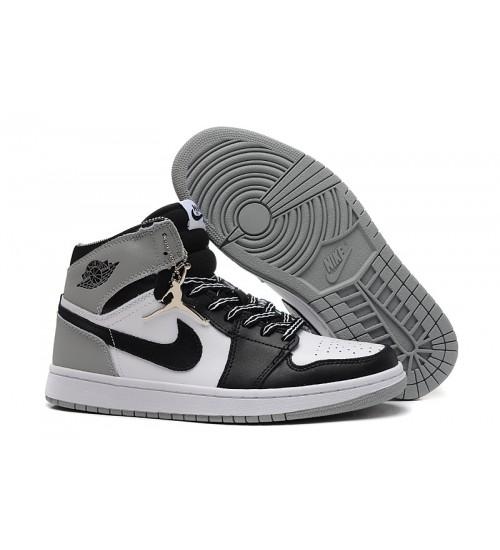 Air Jordan 1 (I) Barons White Black Neutral Grey Shoes