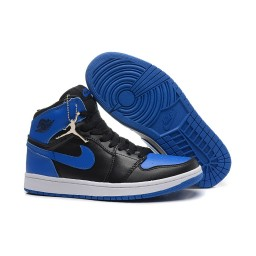 Air Jordan 1 (I) Black Varsity Royal Blue White Shoes