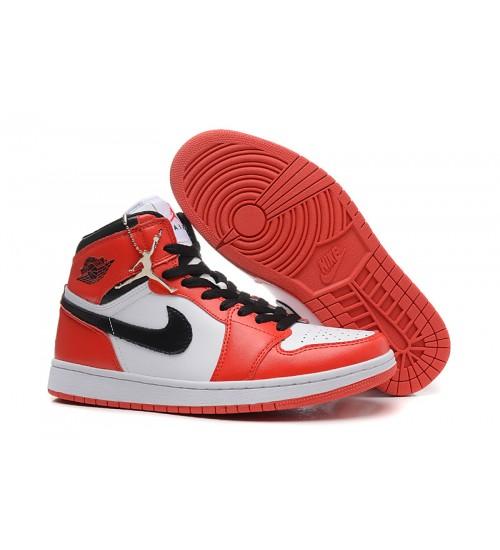 Air Jordan 1 (I) White Varsity Red Black Shoes