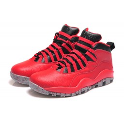 2015 Air Jordan 10 Retro Bulls Over Broadway Gym Red Black Wolf Grey Shoes