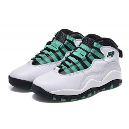 2015 Air Jordan 10 Retro White Verde Black Infrared Shoes