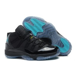 Air Jordan 11 (XI) Black Gamma Blue Varsity Maize Shoes