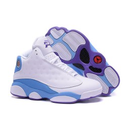 "Air Jordan 13 CP3 Hornets ""Home"" White Blue Purple"