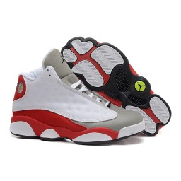Air Jordan 13 (XIII) Retro Grey Toe White Black True Red Cement Grey Shoes