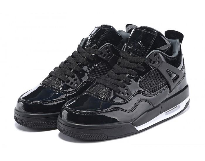 Air Jordan 4 Retro 11Lab4 'Black Patent Leather'