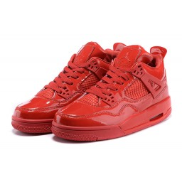 Air Jordan 4 Retro Red Patent Leather Shoes
