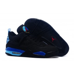 Air Jordan 4 Retro Custom Black Aqua Shoes