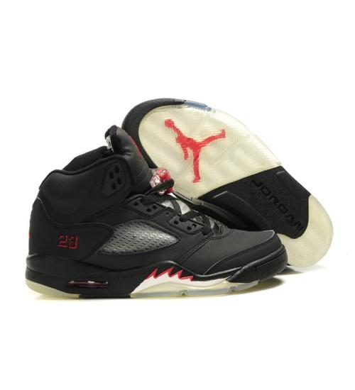 Air Jordan 5 Retro Raging Bull 3M Black Varsity Red Shoes