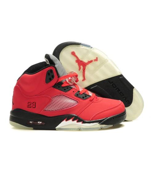 Air Jordan 5 Retro Raging Bull Varsity Red Black Shoes