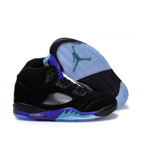 Air Jordan 5 (V) Retro Black Grape Black New Emerald Grape Ice Shoes