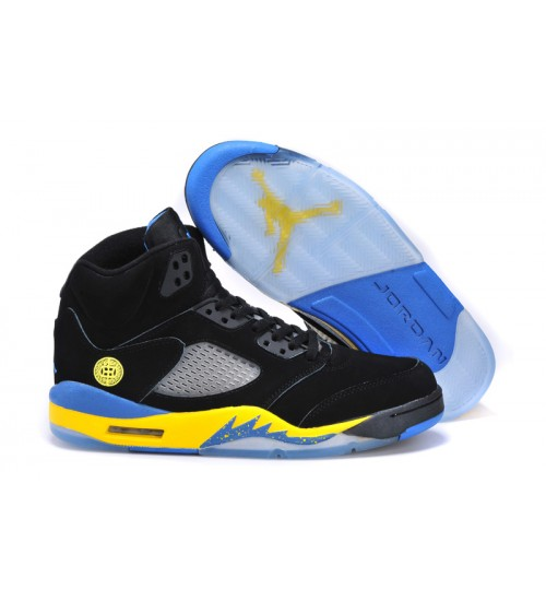 Air Jordan 5 (V) Retro Shanghai Shen Black Varsity Maize Varsity Royal Shoes
