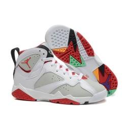 2015 Air Jordan 7 Retro Hare White Light Silver True Red Shoes