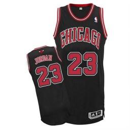 Michael Jordan Authentic Men's NBA Chicago Bulls Jersey #23 Black Alternate