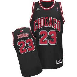Michael Jordan Swingman Men's NBA Chicago Bulls Jersey #23 Black Alternate