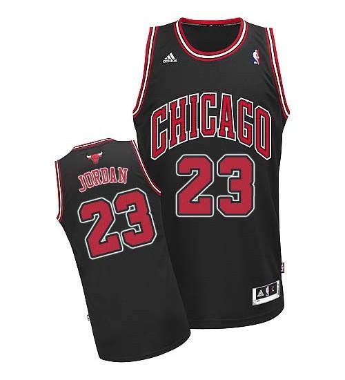 Michael Jordan Swingman Kid's NBA Chicago Bulls Jersey #23 Black Road